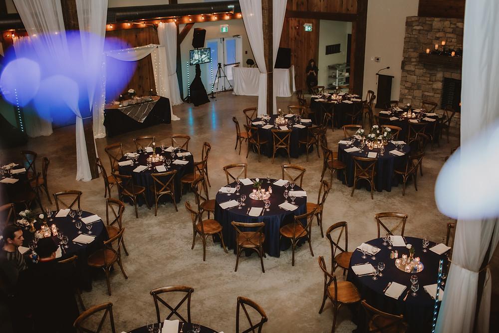 Winter wedding reception decor inspiration.