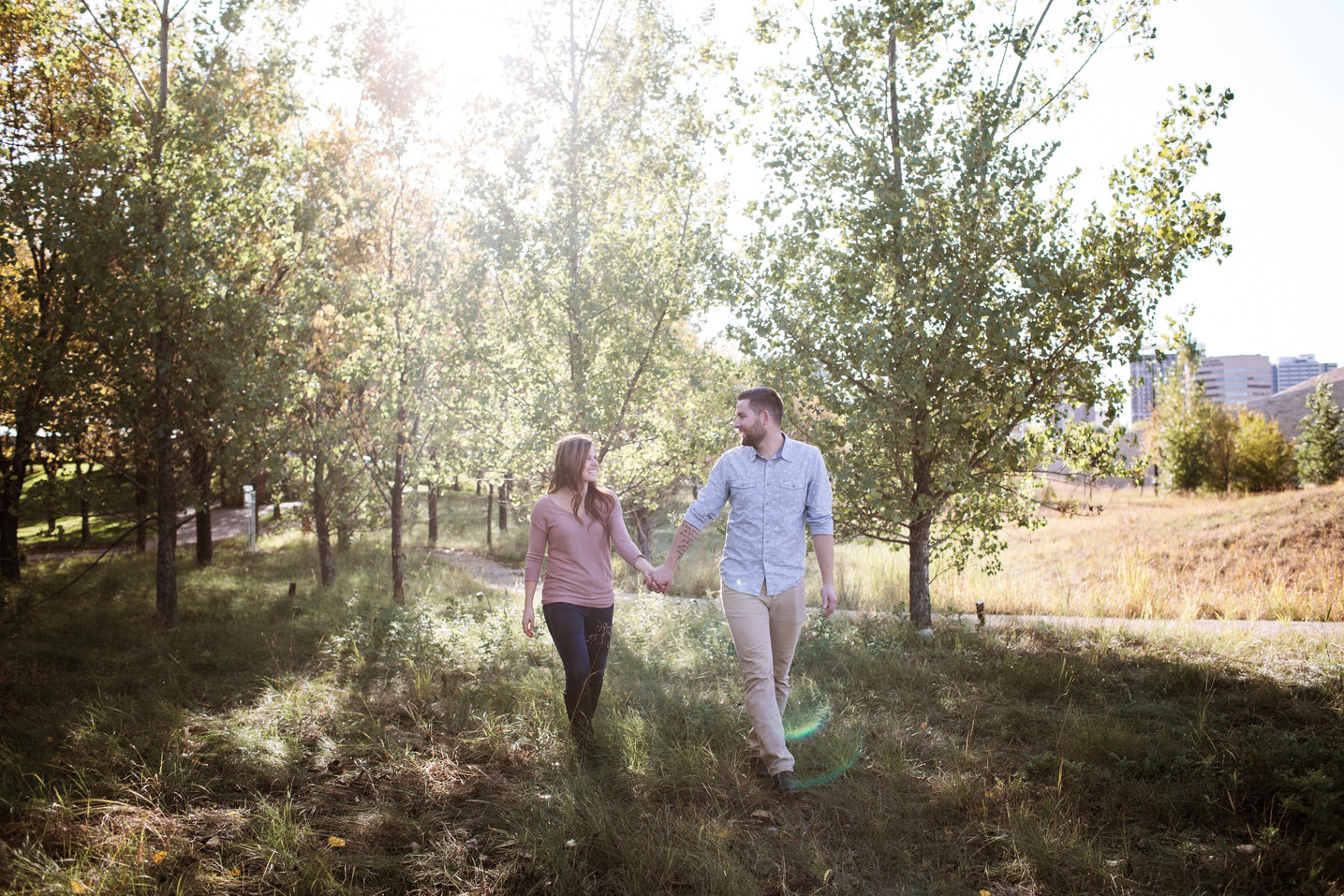 Sunny Engagement Session in Winnipeg, Manitoba.