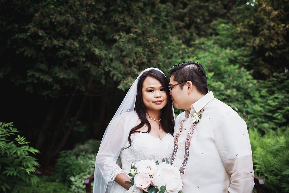 Winnipeg Filipino bride and groom.