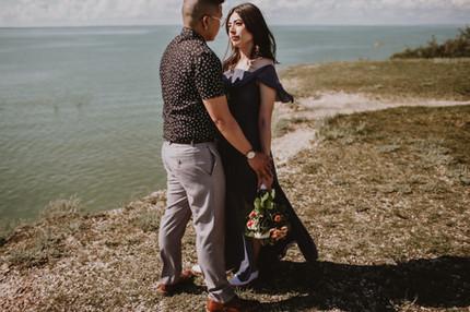 Engagement Photos Overlooking Water