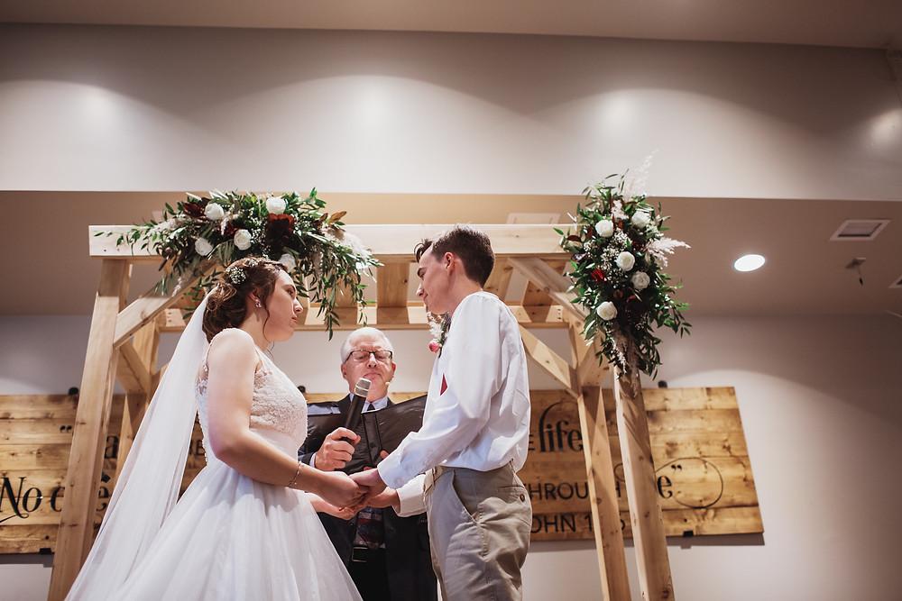 Wedding ceremony in Winkler, Manitoba.