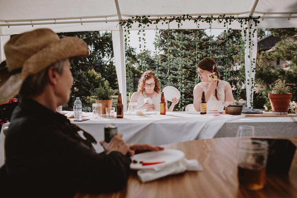 Casual wedding reception ideas.