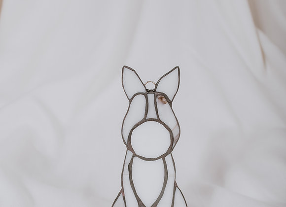 Stained Glass Dog Ornament
