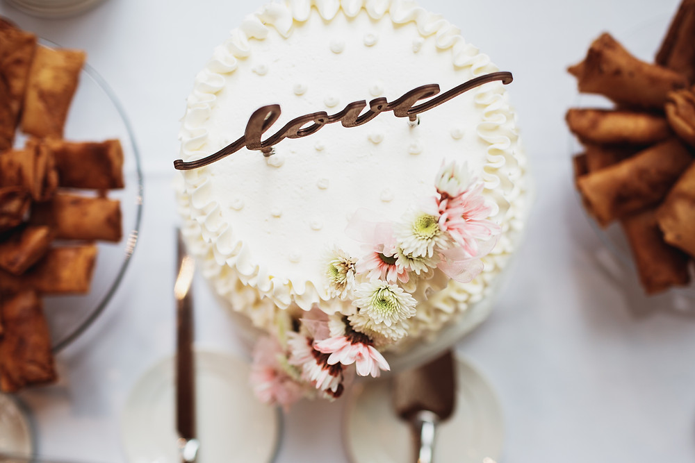 Wedding cake, for wedding in Assiniboine Park, Winnipeg, Manitoba.