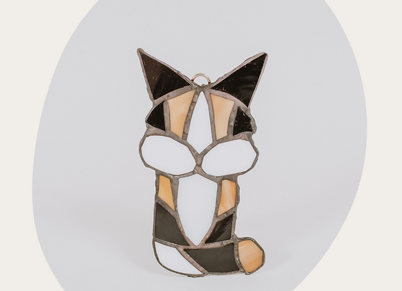 Cat Stained Glass Ornament