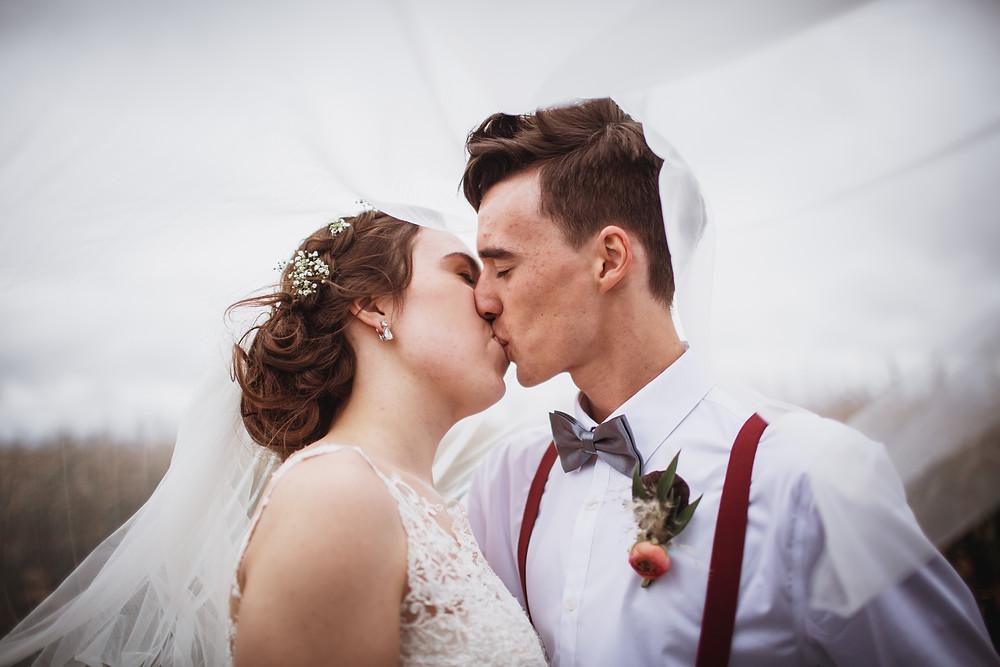 Southern Manitoba wedding couple
