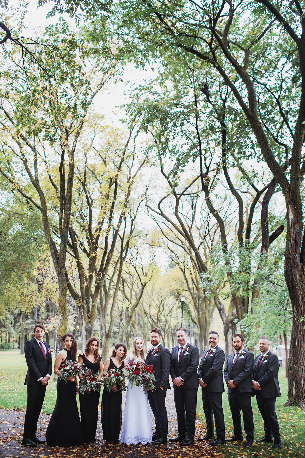 Fall wedding party inspiration.