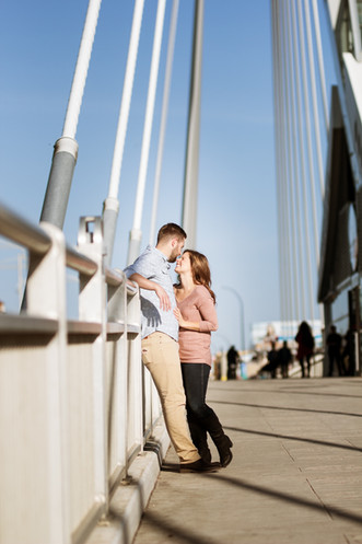 Engagement Session on the Provencher Bridge