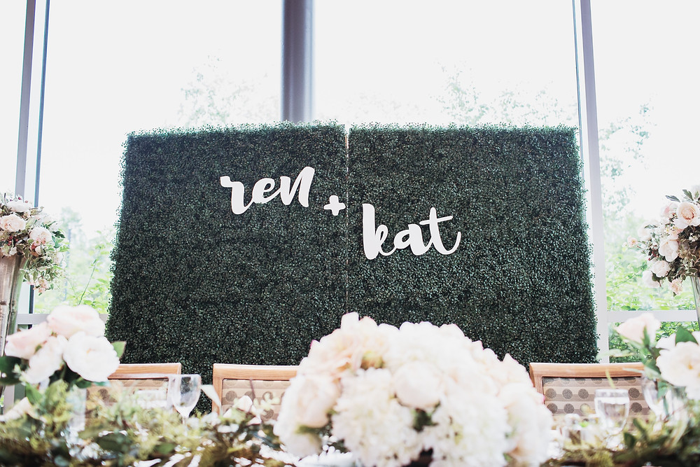 Backdrop for head-table, Winnipeg wedding.