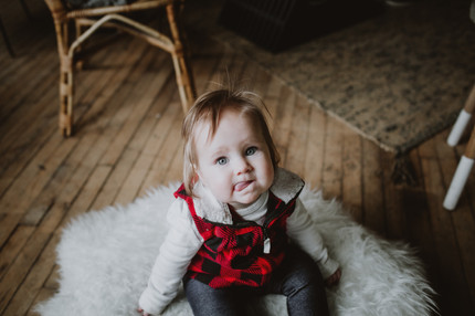 Indoor Baby Portrait Session in Natural Light