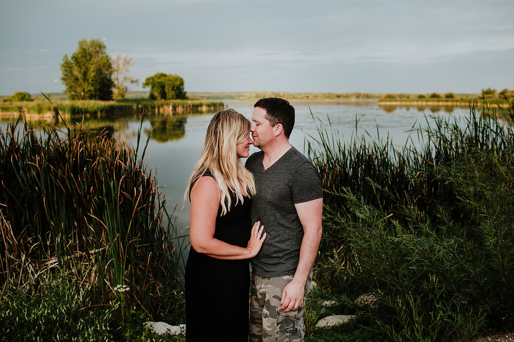 Grand Beach, Manitoba, summer engagement session.