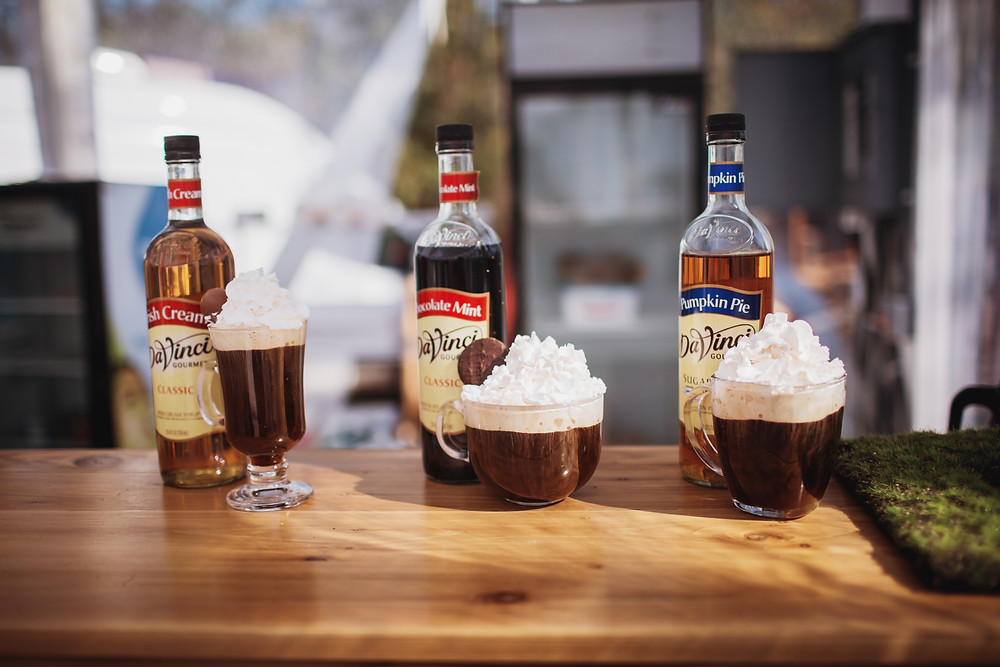 Specialty ice coffee drinks.