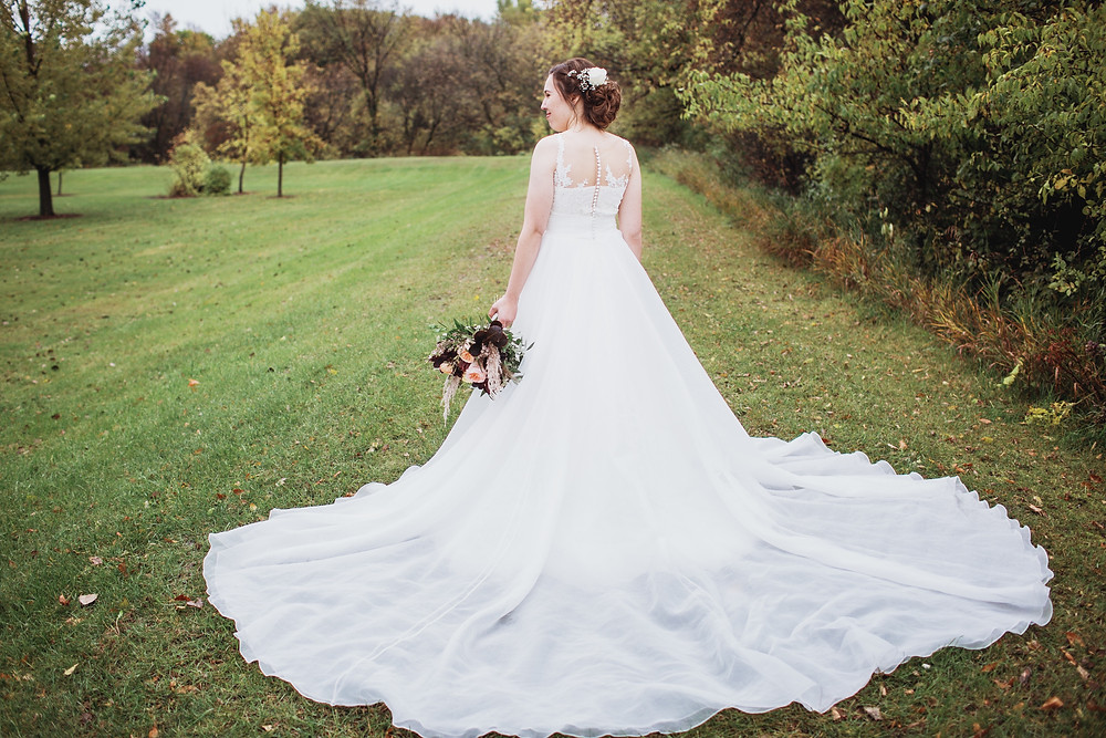 Wedding down by Essense of Australia from Bliss Bridal Boutique.