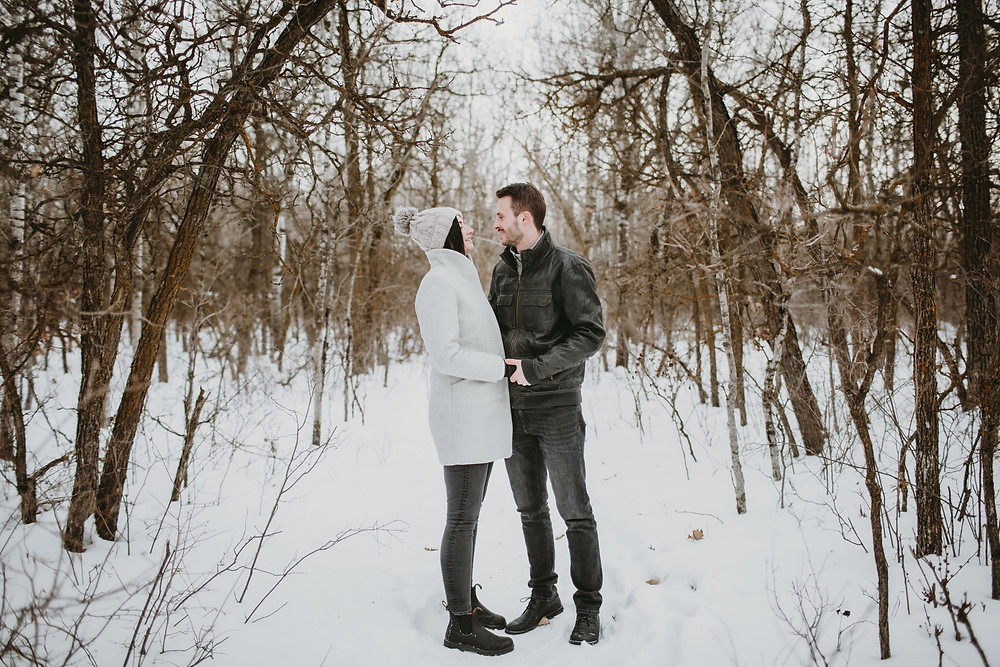 February forest engagement photos.