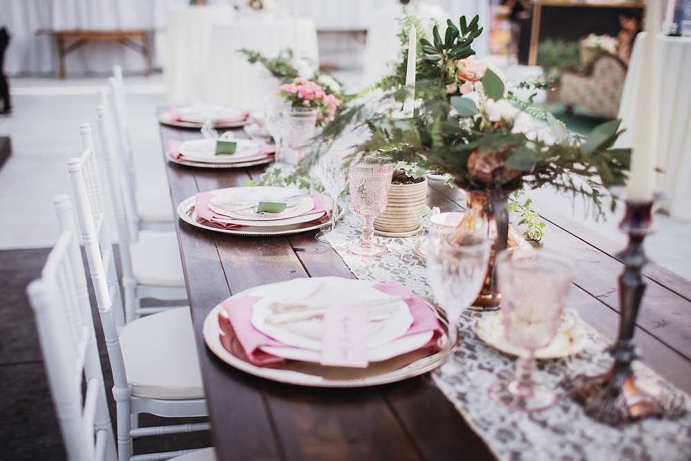 Table decor by Geek Chic Decor.
