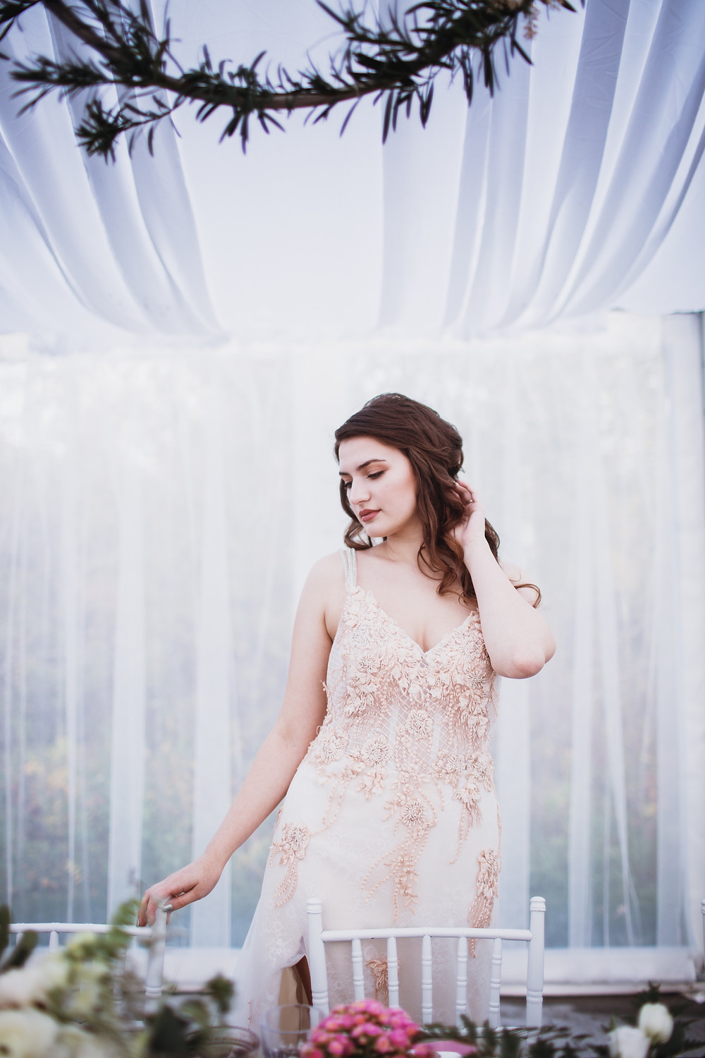 Fall bridal gown inspiration.