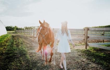 Amanda and her horse