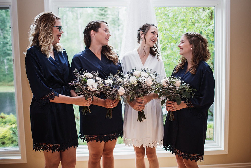 Bridal party robes.