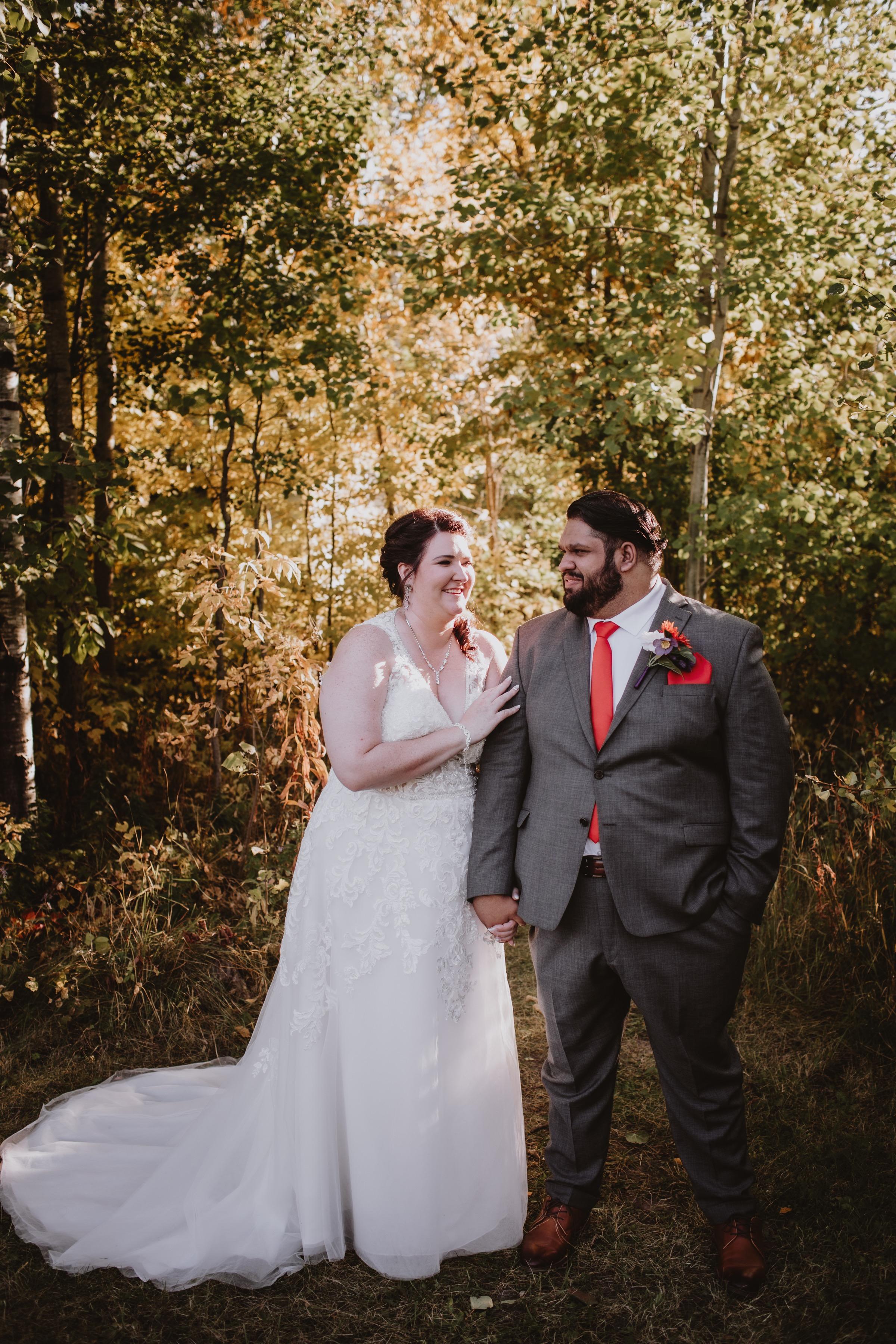 Wedding Couple in Golden Hour
