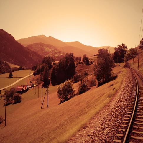 Tren Yolculuğu - İsviçre