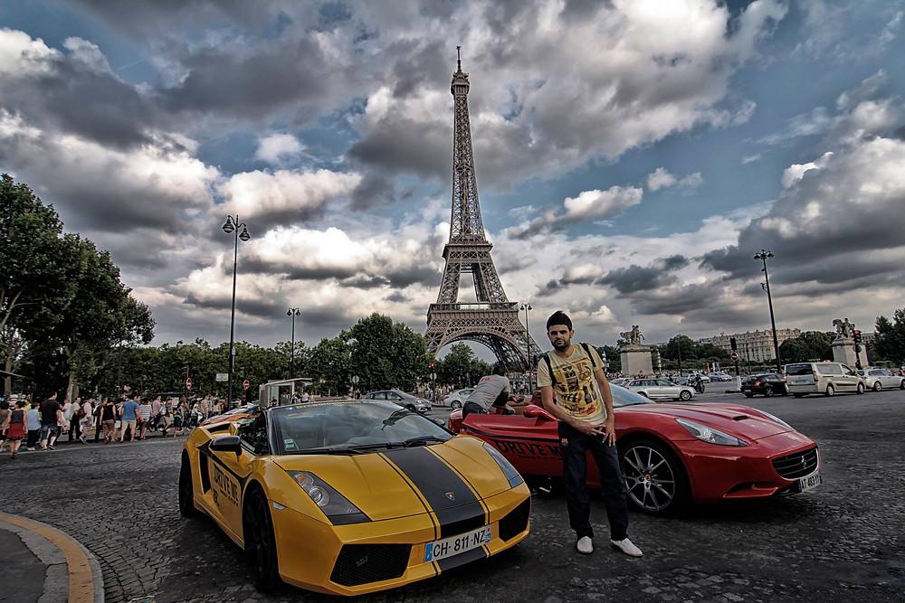 Paris çekiminden bir kare