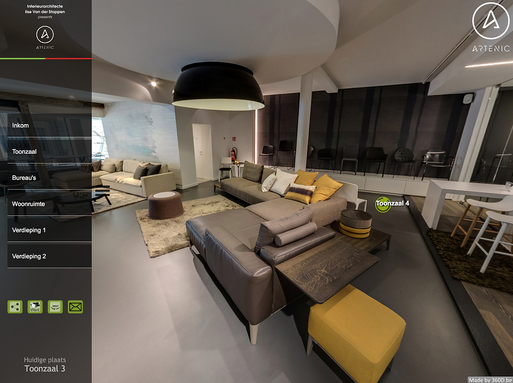 Virtuele rondleiding Artenic interieur