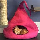 Wool cat cave