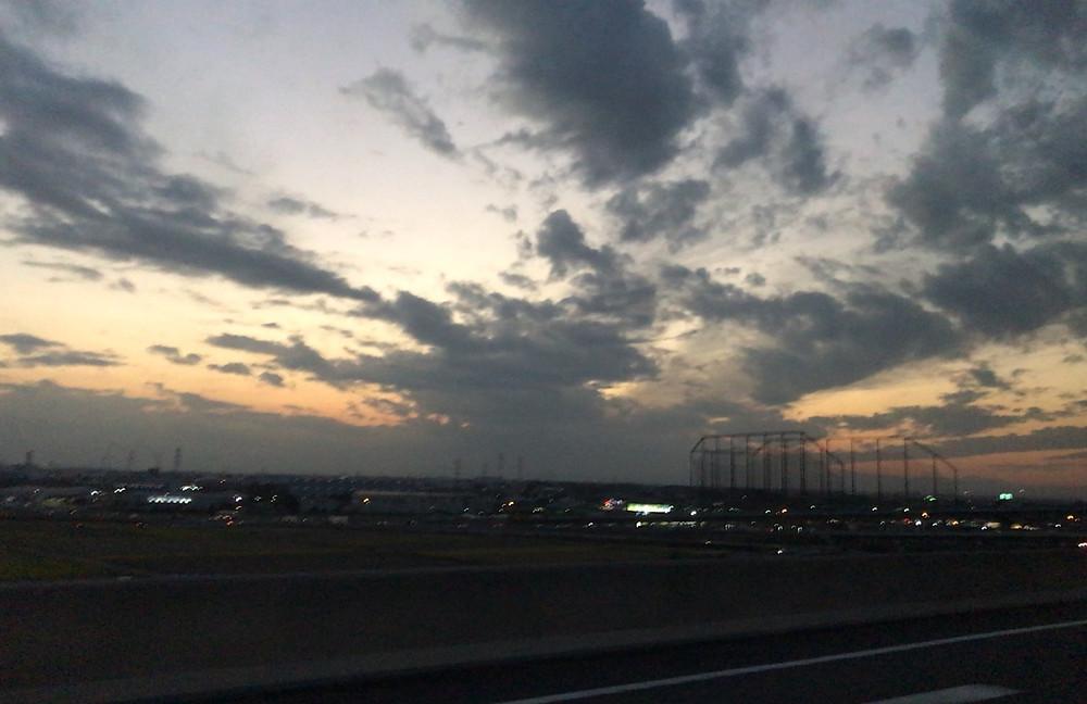 11月29日 帰り道の夕焼けです