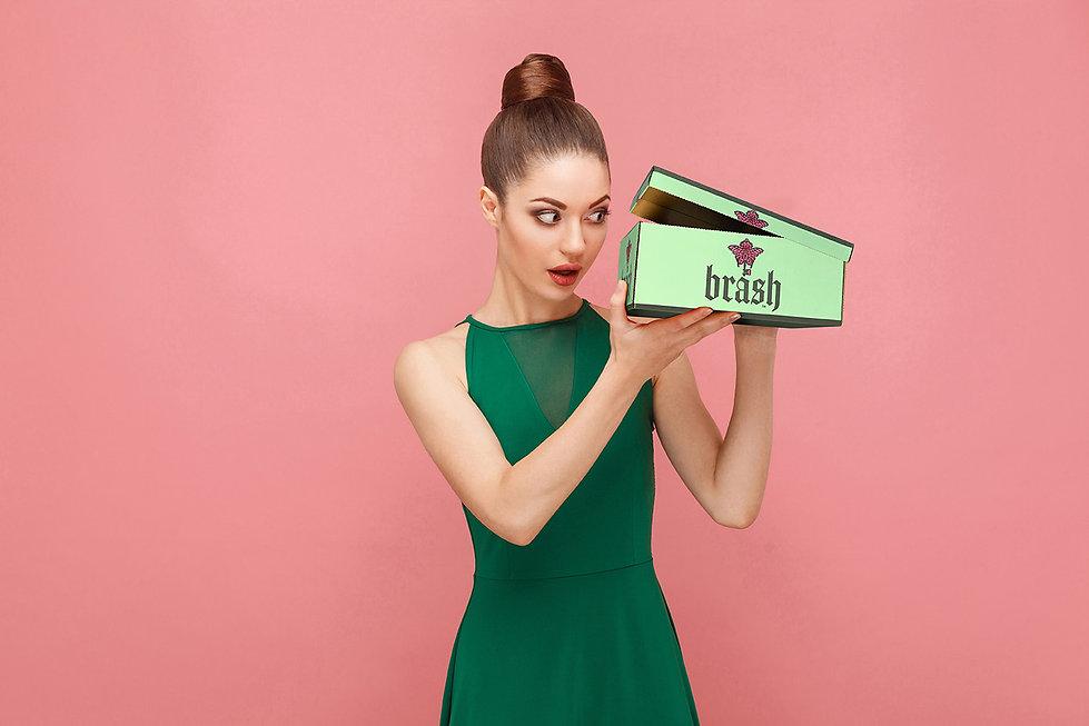 Brash Woman with Shoe Box.jpg