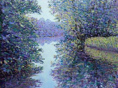 Art Print: 'Summer evening on the river'