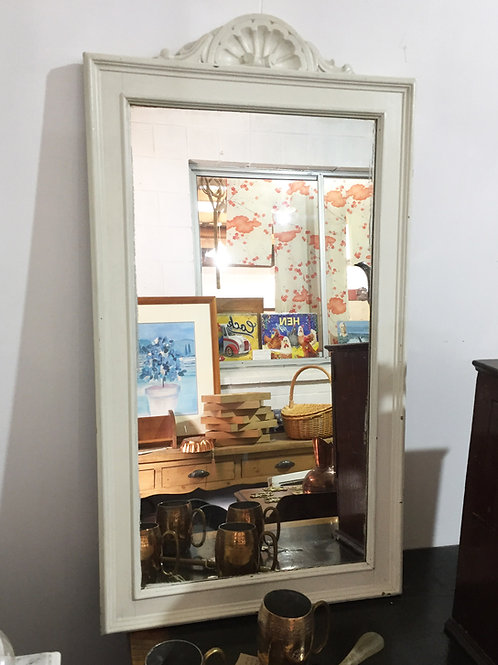 White Painted Mirror
