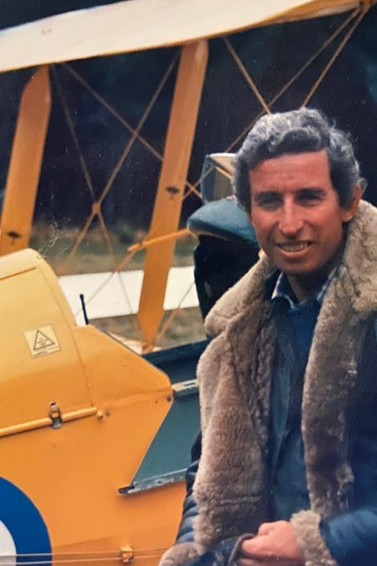 A young Simon with his Tigermoth