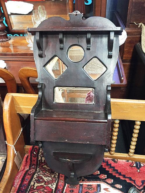 Antique Hall Mirror with Glove Box