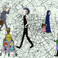 Parisian cartography and people