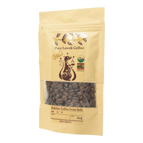 野生コピルアク(ジャコウネココーヒー):焙煎豆(インドネシア産)