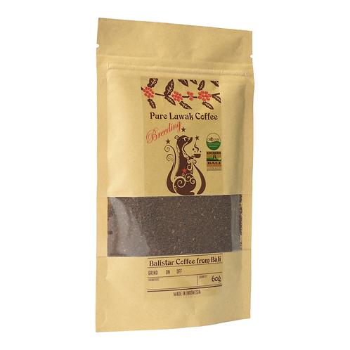 野生コピルアク(ジャコウネココーヒー):粉砕豆(レギュラーコーヒー)(インドネシア産)