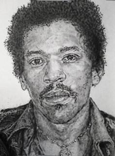 Jimi Hendrix Mug Shot