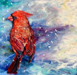 """Winter Cardinal II"""