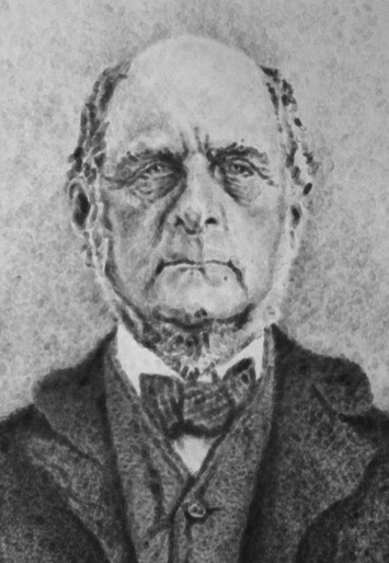 Galton Mug Shot - Fingerprint Science Pioneer