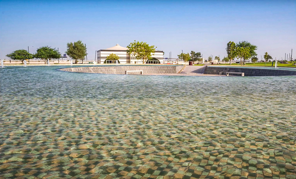 Al Bayt FIFA 2022 World Cup Stadium water feature landscape architecture