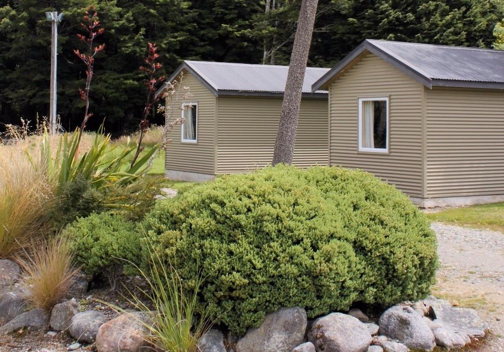 Borland Lodge Huts and planting