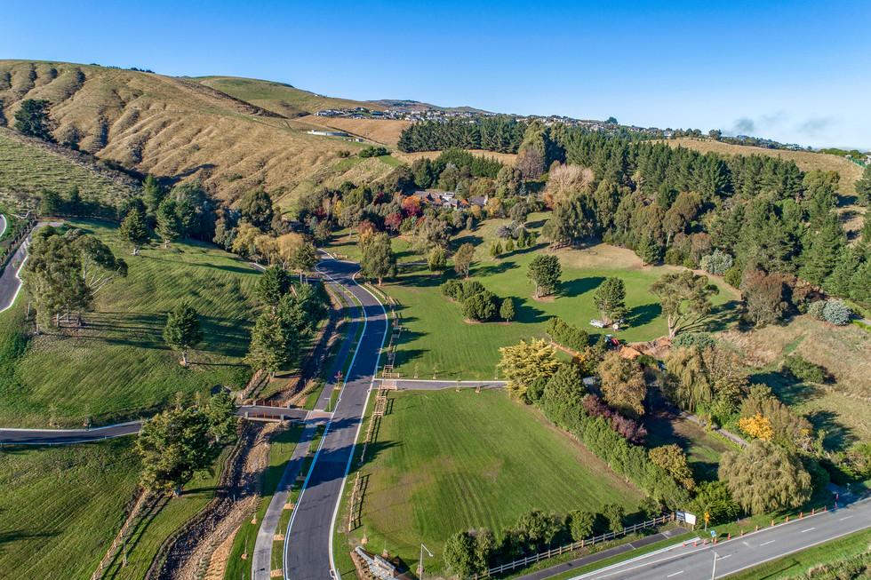 Aerial of subdivision landscape architec