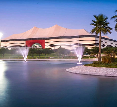 Al bayt stadium fountain landscape design