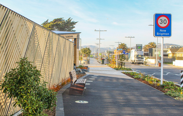 New Brighton streetscape urban design, Christchurch