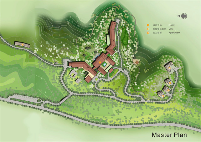 Landscape Masterplan of a resort in China