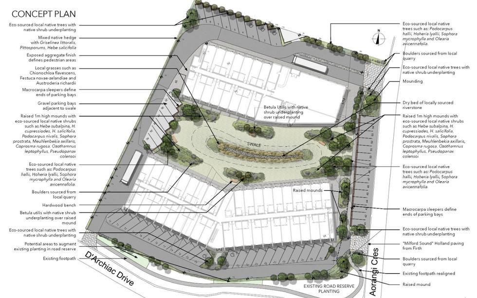 Lake Tekapo resort landscape architecture concept plan