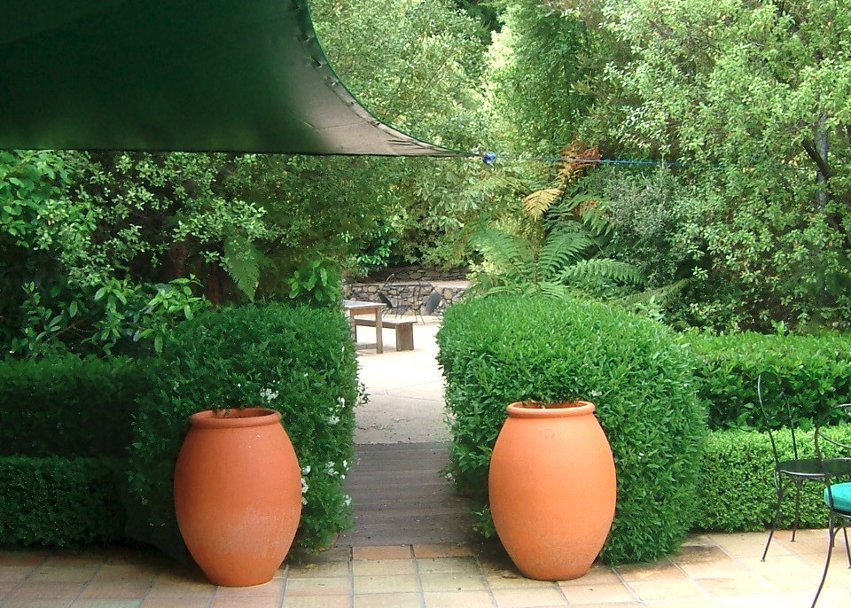 landscape design and gardens at french farm winery