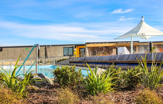 Native planting design at New Brighton Hot Pools