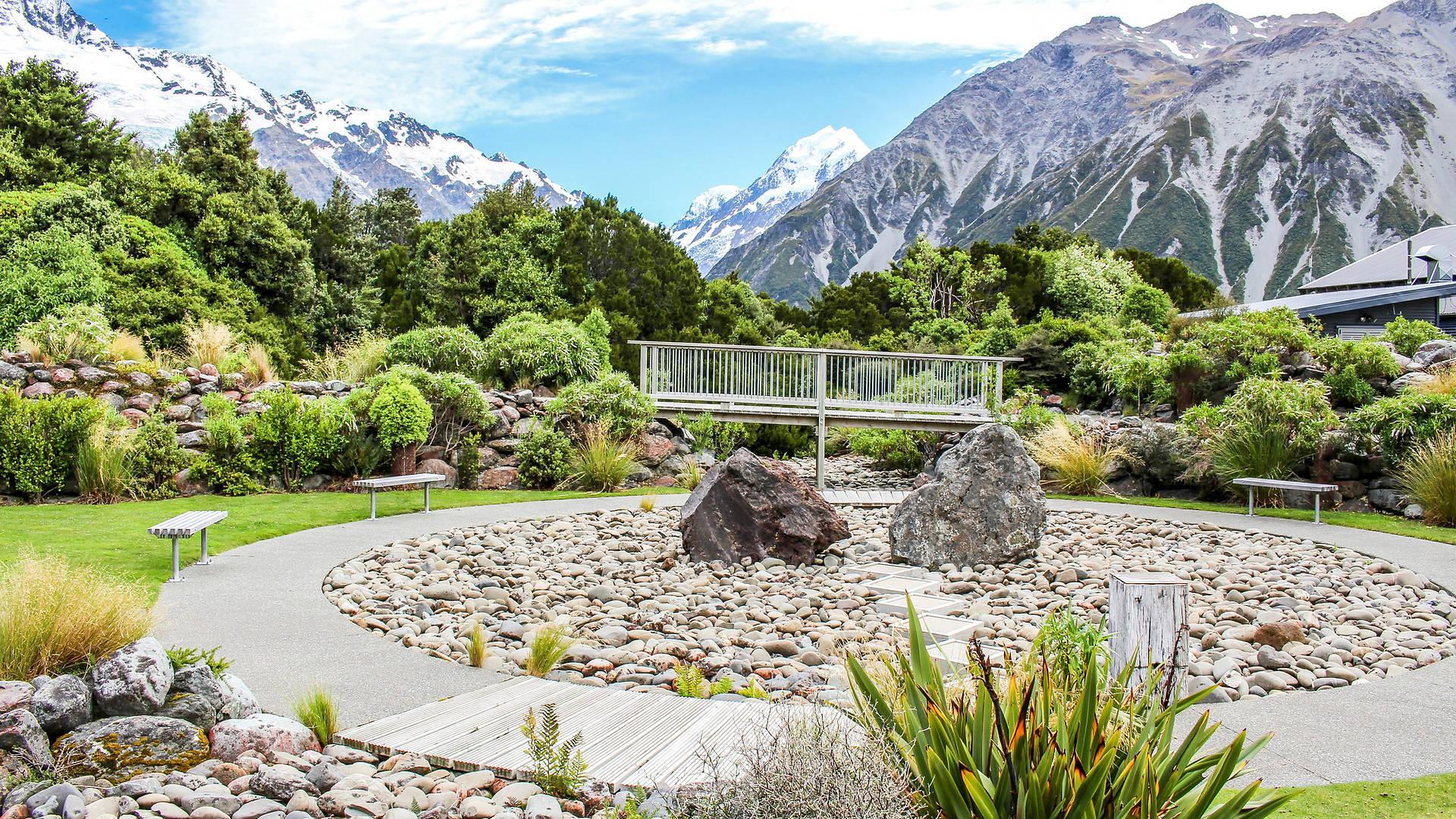 Mt Cook Visitor Centre Garden landscape design
