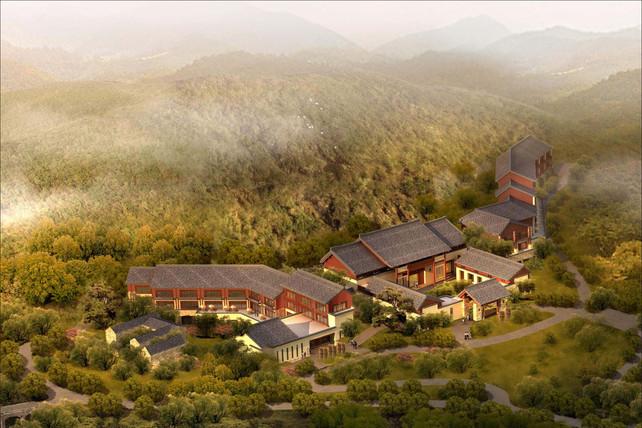 Landscape design visual of a resort in China